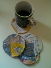 Fusing plastics into household items: Coasters