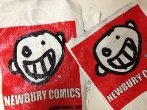 Comical bags, anyone? :from repurposed plastic